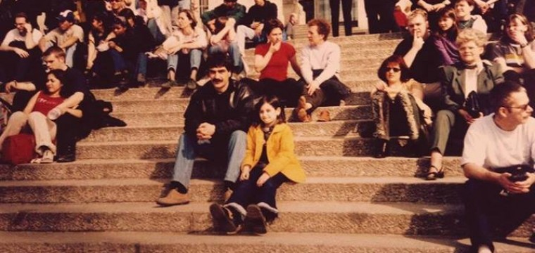 Berlin 2001, mit meinen Eltern damals.